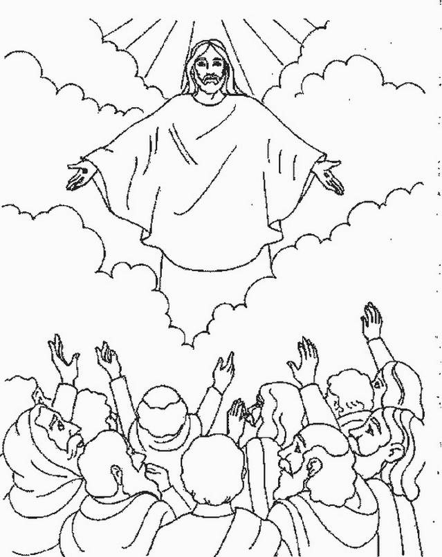 ascension of jesus christ coloring pages_161