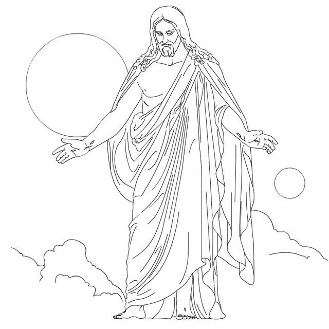 ascension coloring pages of jesus - photo#18