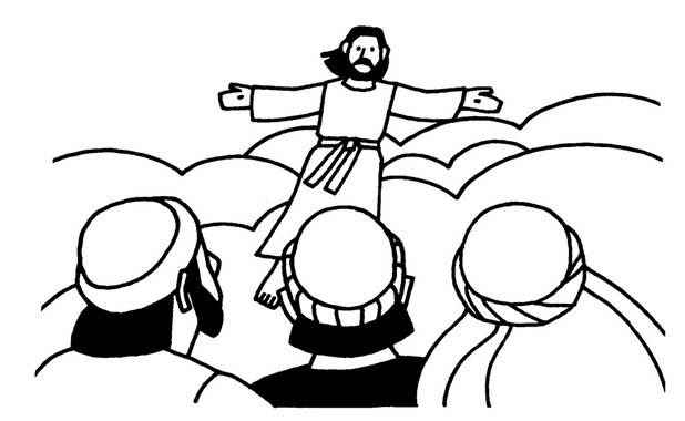 ascension coloring pages of jesus - photo#35