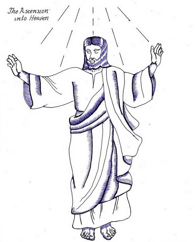 Ascension of Jesus Christ Coloring Pages family holidaynet
