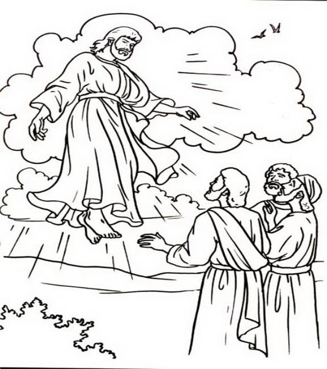 ascension of mary coloring pages - photo#31