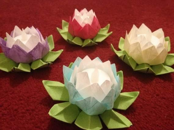DIY Paper Lotus Lanterns for Buddha s