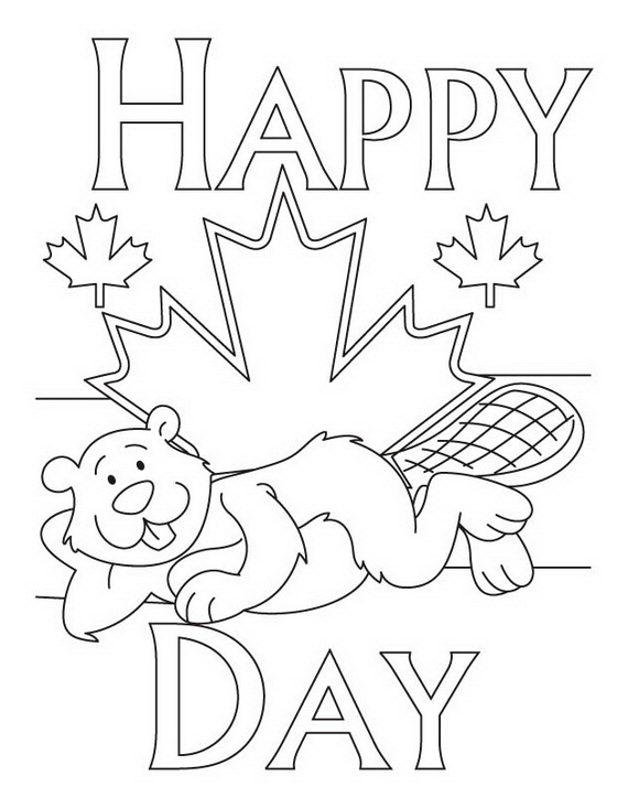 Canada day coloring pages 29