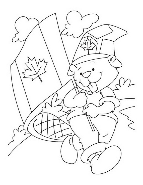 Canada Day Coloring Pages Family Holiday Net Guide To