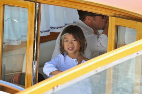 65th Venice Film Festival: Brad Pitt And Family Arrive In Venice
