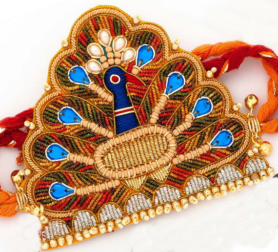 Traditional Rakhi Styles and designs on Raksha Bandhan _11