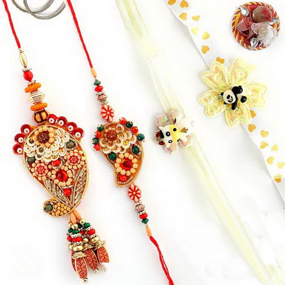 Traditional Rakhi Styles and designs on Raksha Bandhan _29