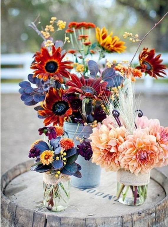 50 Beautiful Centerpiece Ideas For Fall Weddings Family