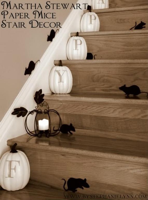 50 Unique Fall Staircase Decor Ideas_05 & 50 Unique Fall Staircase Decor Ideas - family holiday.net/guide to ...