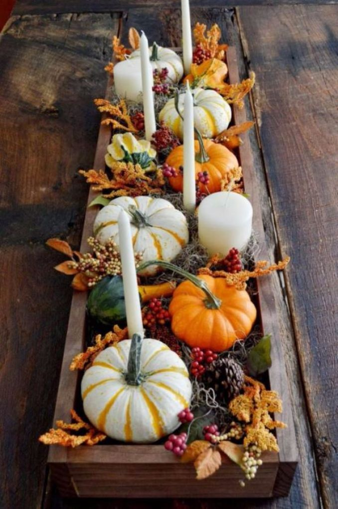 60 Amazing Pumpkin Centerpieces And Glorious Fall ... - photo#43