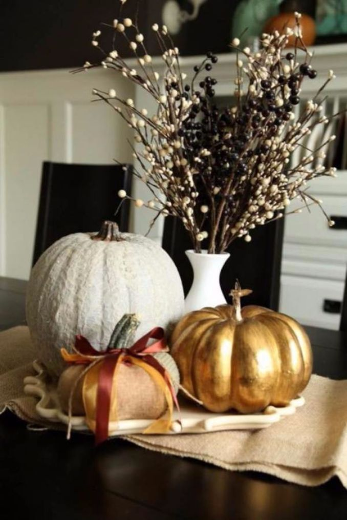 60 Amazing Pumpkin Centerpieces And Glorious Fall ... - photo#2