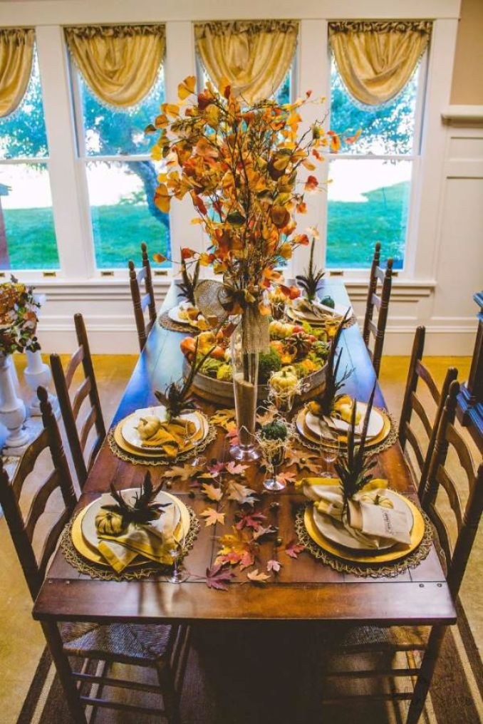 Amazing pumpkin centerpieces and glorious fall
