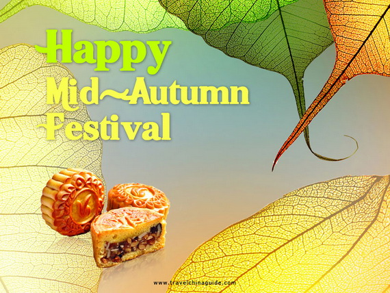 Chinese Mid Autumn Festival, Moon Cake Greeting Cards - China _24