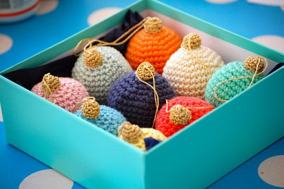 Christmas Decor – Knit Christmas Tree Ornament craft ideas.   (10)_resize