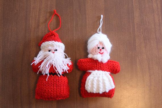 Christmas Decor – Knit Christmas Tree Ornament craft ideas.   (16)