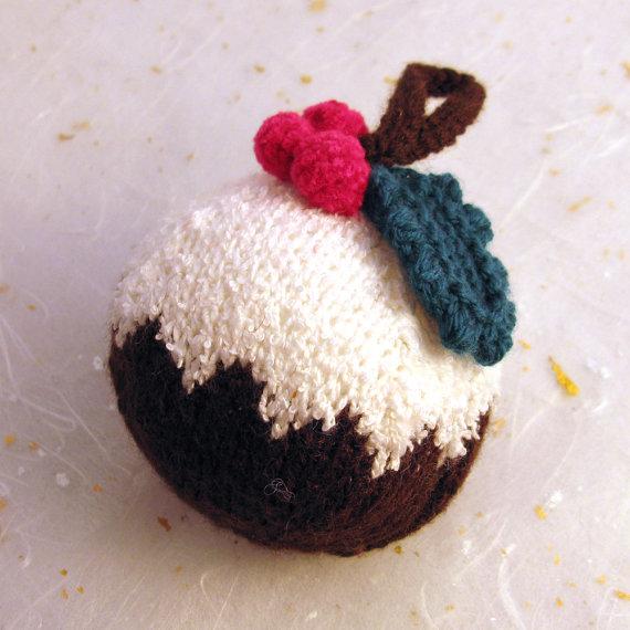 Christmas Decor – Knit Christmas Tree Ornament craft ideas.   (17)