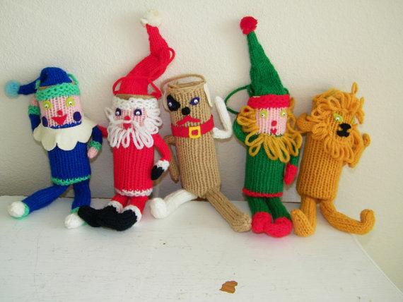 Christmas Decor – Knit Christmas Tree Ornament craft ideas.   (18)