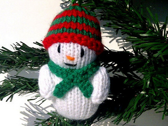 Christmas Decor – Knit Christmas Tree Ornament craft ideas.   (20)_resize