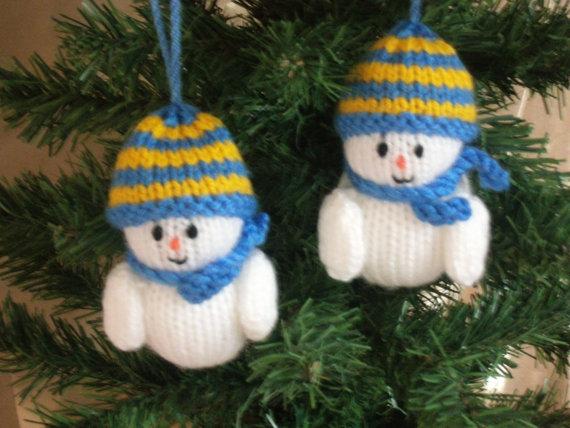 Christmas Decor Knit Christmas Tree Ornament Craft Ideas Family