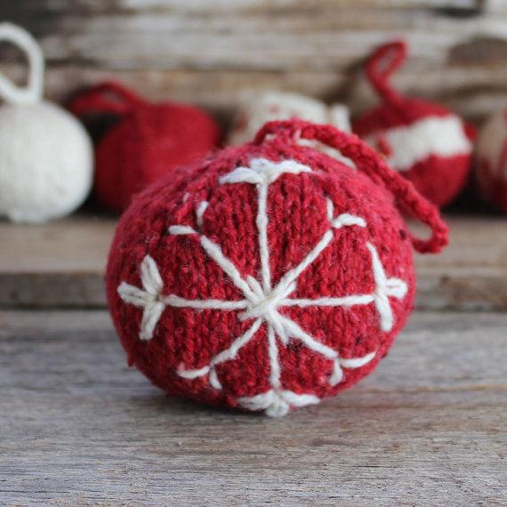 Christmas Decor – Knit Christmas Tree Ornament craft ideas.   (26)
