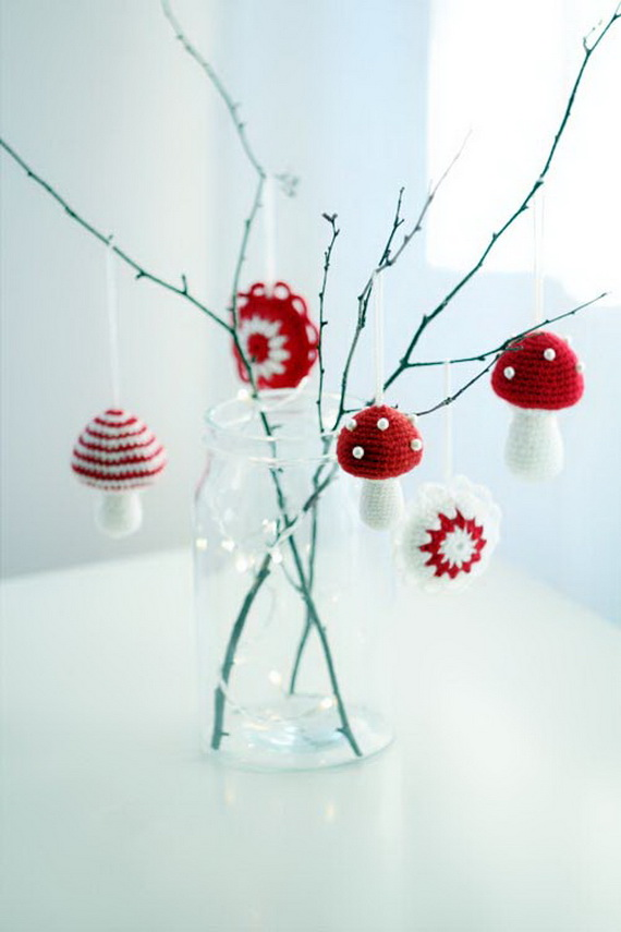 Christmas Decor – Knit Christmas Tree Ornament craft ideas.   (2)_resize