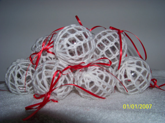 Christmas Decor – Knit Christmas Tree Ornament craft ideas.   (31)