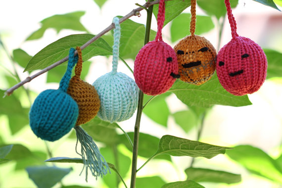 Christmas Decor – Knit Christmas Tree Ornament craft ideas.   (32)