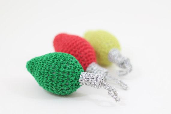 Christmas Decor – Knit Christmas Tree Ornament craft ideas.   (34)