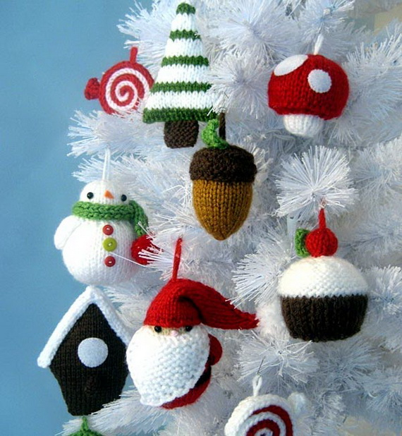 Christmas Decor – Knit Christmas Tree Ornament craft ideas.   (8)_resize