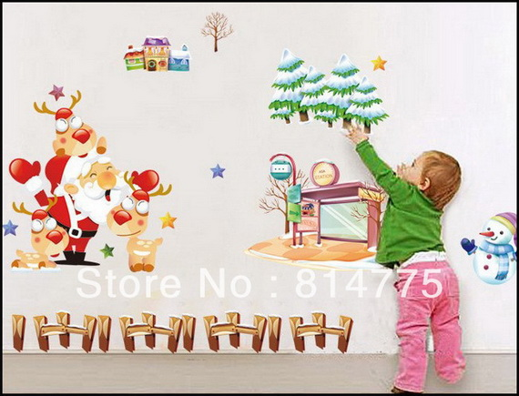 Christmas Decoration Ideas for Kids Room - Wall Decals_02
