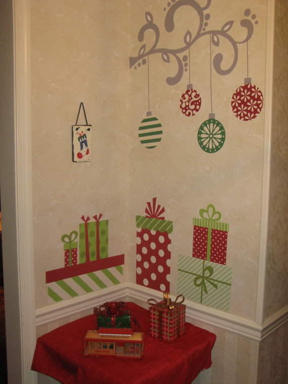 Christmas Decor On The Wall : Christmas decoration ideas for kids room wall decals