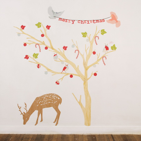 Christmas Decoration Ideas for Kids Room - Wall Decals_12