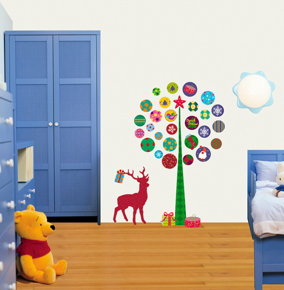 Christmas Decoration Ideas for Kids Room - Wall Decals_26