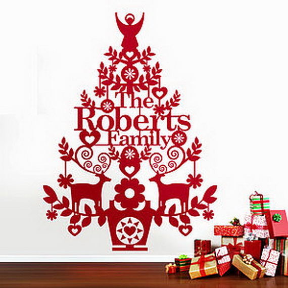 Christmas Decoration Ideas For Kids Room   Wall Decals_46