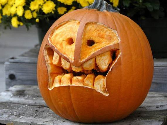 Cool Easy Pumpkin Carving Ideas 23