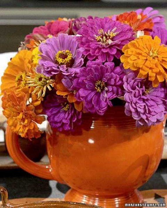 Cool Fall Flower Centerpiece and Flower Table  (10)