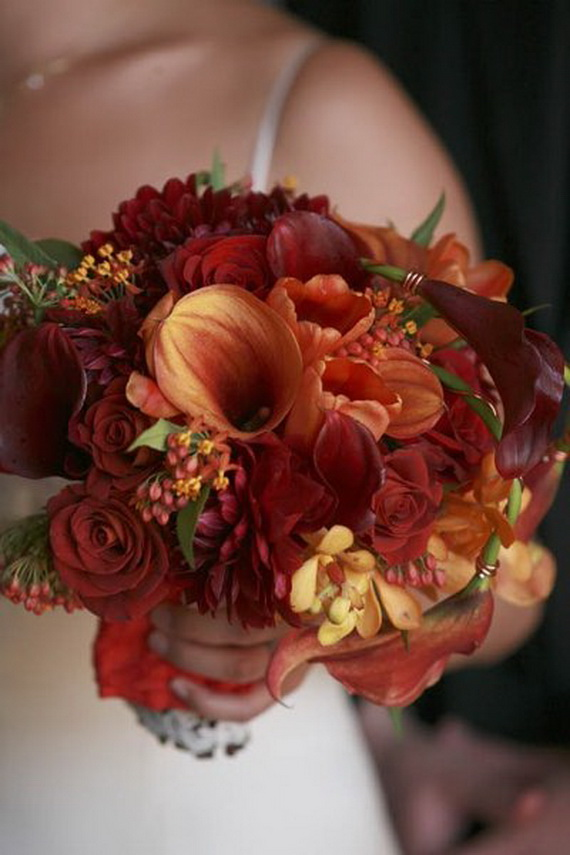 Cool Fall Flower Centerpiece and Flower Table  (2)
