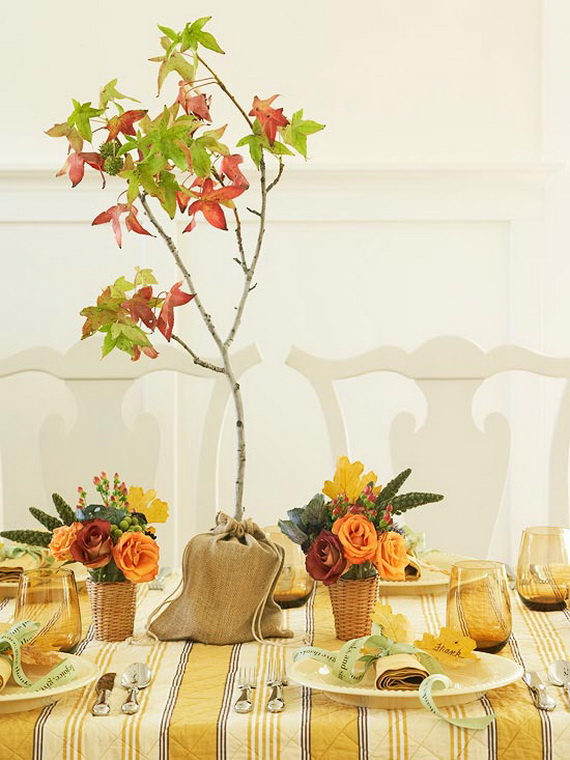 Cool Fall Flower Centerpiece and Flower Table  (20)