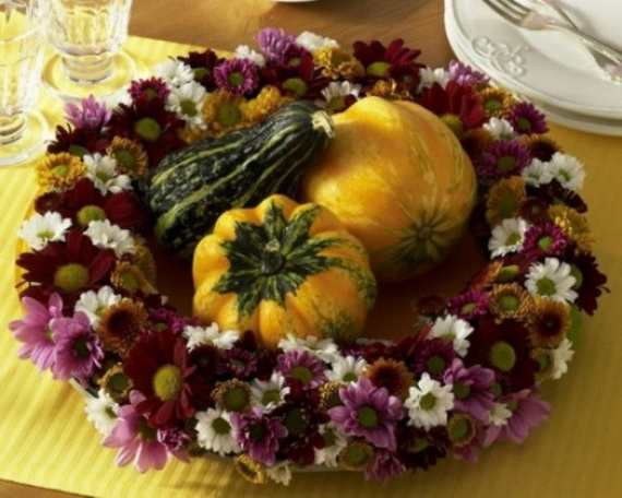 Cool Fall Flower Centerpiece and Flower Table  (24)