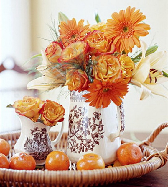 Cool Fall Flower Centerpiece and Flower Table  (34)