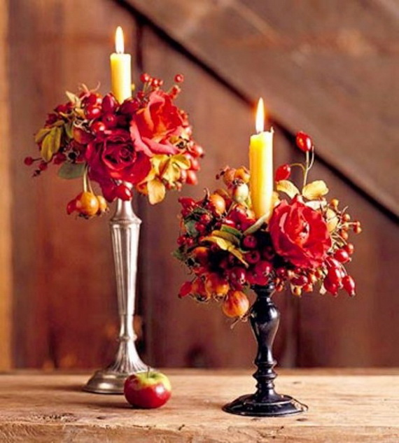 Cool Fall Flower Centerpiece and Flower Table  (35)