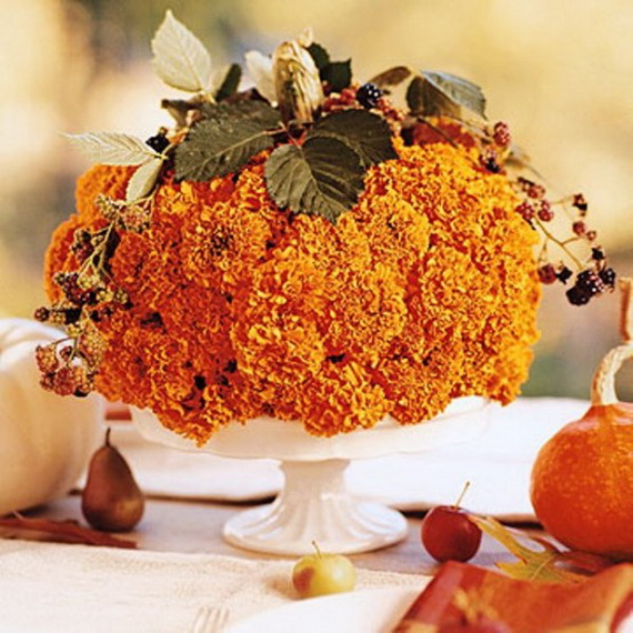 Cool Fall Flower Centerpiece and Flower Table  (36)