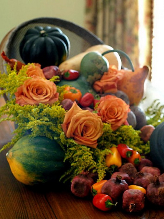Cool Fall Flower Centerpiece and Flower Table  (37)