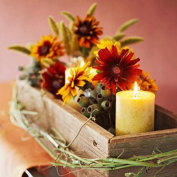 Cool Fall Flower Centerpiece and Flower Table  (41)