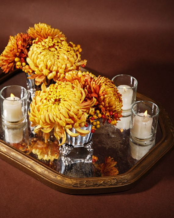 Cool Fall Flower Centerpiece and Flower Table  (62)