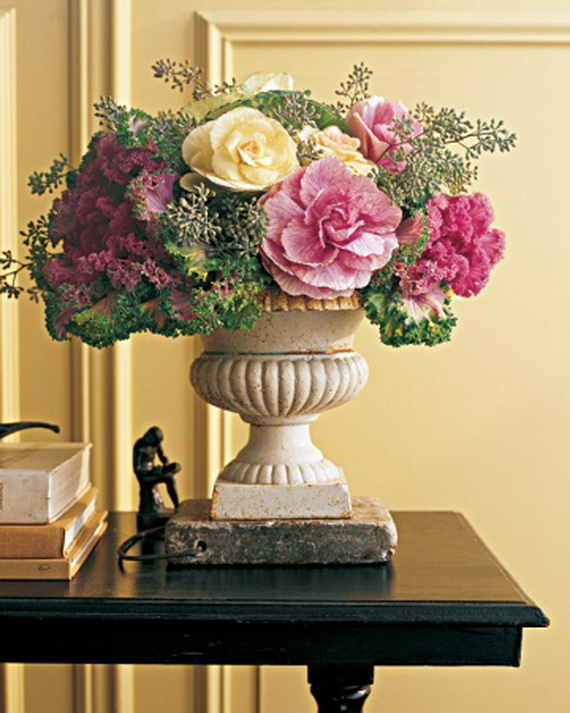 Cool Fall Flower Centerpiece and Flower Table  (73)