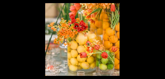 Cool Fall Flower Centerpiece and Flower Table  (82)