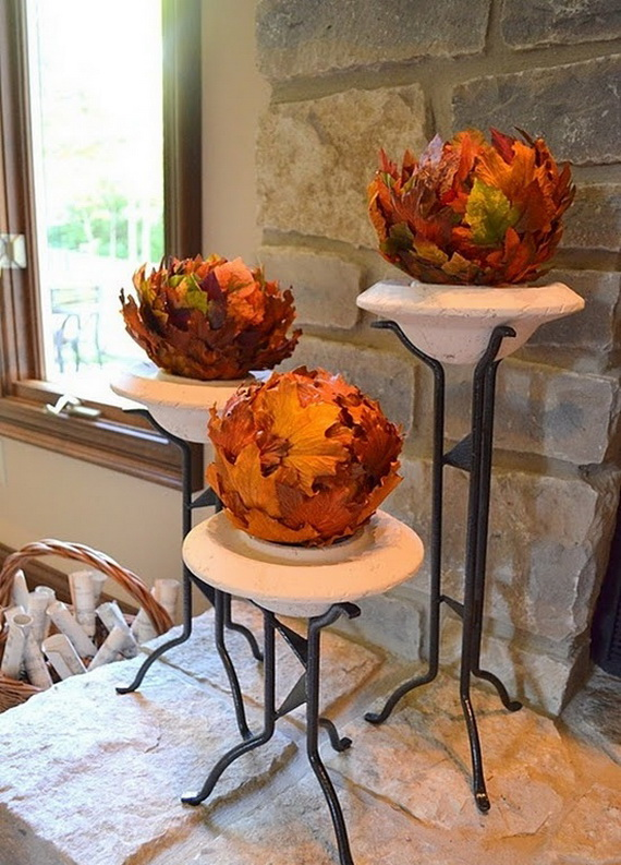 Easy Ways Using Autumn Leaves _37