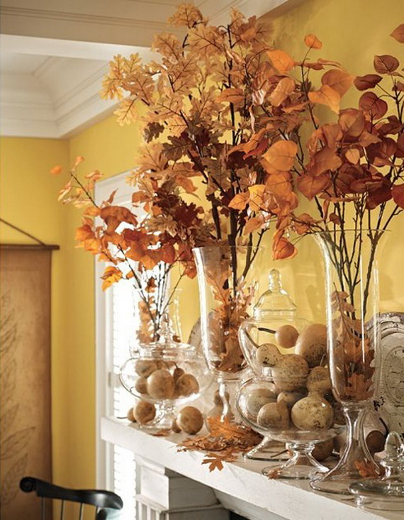 77 Easy Ways Using Autumn Leaves For Fall Home Decor Family