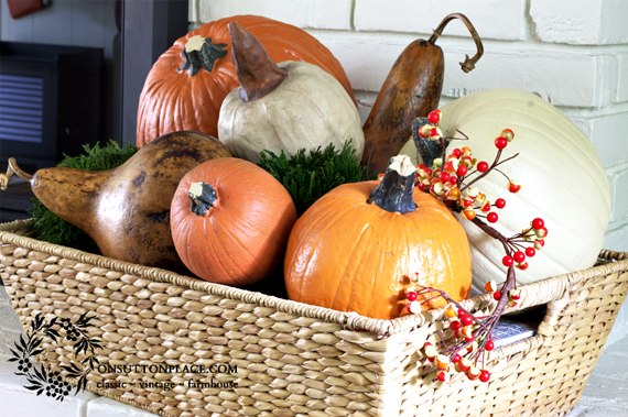 Gorgeous  Fall Mantel (1)